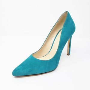 Nine West Tatiana Turquoise Pointed Toe Heels